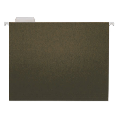 ESUNV14115 - Hanging File Folders, 1-5 Tab, 11 Point Stock, Letter, Standard Green, 25-box