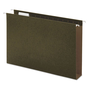 ESUNV14152 - Two Inch Box Bottom Pressboard Hanging Folder, Legal, Standard Green, 25-box