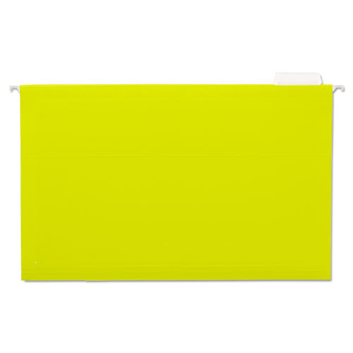 ESUNV14219 - Hanging File Folders, 1-5 Tab, 11 Point Stock, Legal, Yellow, 25-box