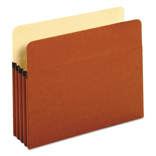 ESUNV15343 - 3 1-2 Inch Expansion File Pockets, Straight Tab, Letter, Redrope-manila, 25-box
