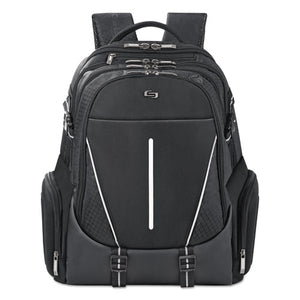 "ESUSLACV7004 - Active Laptop Backpack, 17.3"", 12 1-2 X 6 1-2 X 19, Black"