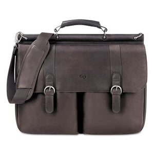 "ESUSLD5353 - Executive Leather Briefcase, 16"", 16 1-2"" X 5"" X 13"", Espresso"