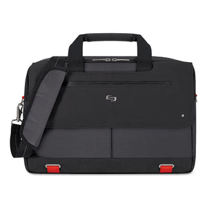 "ESUSLPRO3004 - Mission Briefcase, 20"" X 6"" X 13"", Polyester, Black"