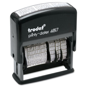 ESUSSE4817 - Trodat Economy 12-Message Stamp, Dater, Self-Inking, 2 X 3-8, Black