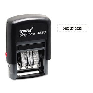 ESUSSE4820 - Trodat Economy Stamp, Dater, Self-Inking, 1 5-8 X 3-8, Black