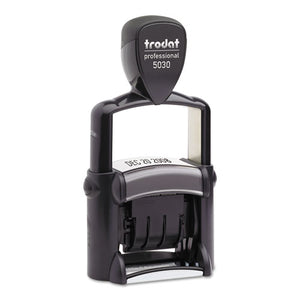 ESUSST5030 - Trodat Professional Stamp, Dater, Self-Inking, 1 5-8 X 3-8, Black