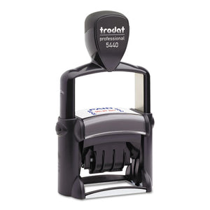 ESUSST5444 - Trodat Professional 5-In-1 Date Stamp, Self-Inking, 1 1-8 X 2, Blue-red