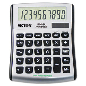 ESVCT11003A - 1100-3a Antimicrobial Compact Desktop Calculator, 10-Digit Lcd