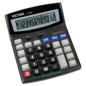 ESVCT1190 - 1190 Executive Desktop Calculator, 12-Digit Lcd