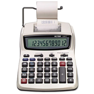 ESVCT12082 - 1208-2 Two-Color Compact Printing Calculator, Black-red Print, 2.3 Lines-sec