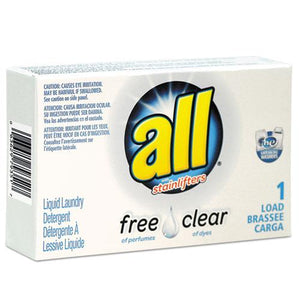 ESVEN2979351 - Free Clear He Liquid Laundry Detergent, Unscented, 1.6 Oz Vend-Box, 100-carton