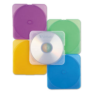 ESVER93804 - Trimpak Cd-dvd Case, Assorted Colors, 10-pack