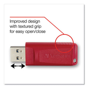 ESVER98525 - Store 'n' Go Usb 2.0 Flash Drive, 128gb, Red