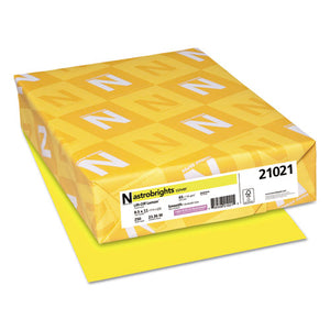 ESWAU21021 - Color Cardstock, 65lb, 8 1-2 X 11, Lift-Off Lemon, 250 Sheets