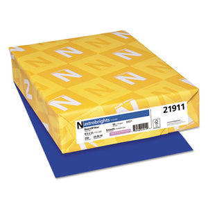 ESWAU21911 - Color Cardstock, 65lb, 8 1-2 X 11, Blast-Off Blue, 250 Sheets