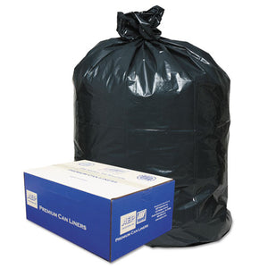 ESWBI434722G - 2-Ply Low-Density Can Liners, 56gal, .9 Mil, 43 X 47, Black, 100-carton