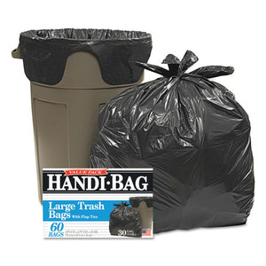 ESWBIHAB6FT60 - Super Value Pack Trash Bags, 30gal, .65mil, 30 X 33, Black, 60-box