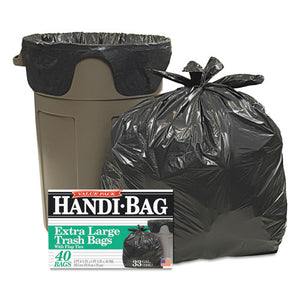ESWBIHAB6FTL40 - Super Value Pack Trash Bags, 33gal, .65mil, 32.5 X 40, Black, 40-box
