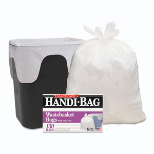 ESWBIHAB6FW130CT - Handi-Bag Super Value Pack, 8gal, 0.6mil, 22 X 24, White, 130-box, 6 Box-carton