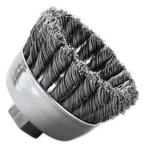 "ESWEI13258 - Sra-2 General-Duty Knot Wire Cup Brush, .020, Ss, 5-8-112, 3-4"" Dia"