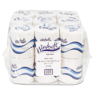 ESWIN2440 - Embossed Bath Tissue, 2-Ply, 400 Sheets-roll, 18 Rolls-carton