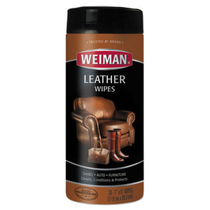 ESWMN91 - Leather Wipes, 7 X 8, 30-canister