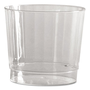 ESWNACCR9240 - CLASSIC CRYSTAL PLASTIC TUMBLERS, 9 OZ., CLEAR, FLUTED, ROCKS SQUAT, 12-PACK