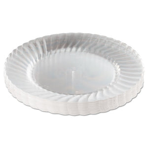 "ESWNARSCW91512 - Classicware Plastic Plates, 9"" Dia., Clear, 12 Plates-pack, 15 Packs-carton"