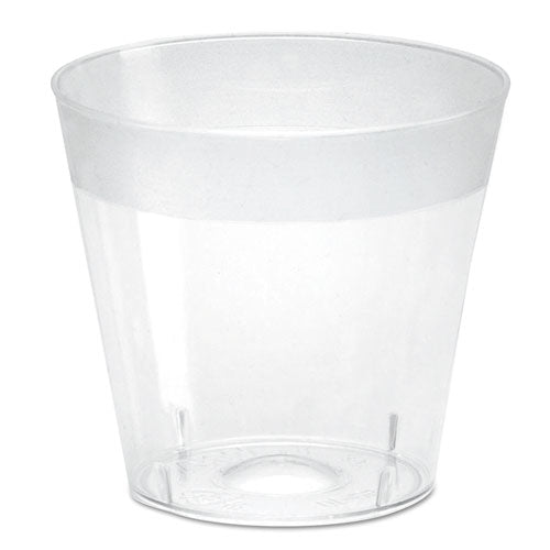 ESWNASG10 - Plastic Shot Glasses, 1 Oz, Clear, 2500-carton