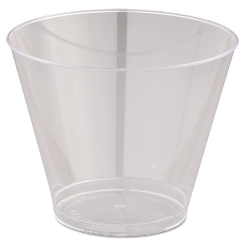 ESWNAT9S - Comet Smooth Wall Tumblers, 9oz, Clear, Squat, 25-pack, 20 Packs-carton