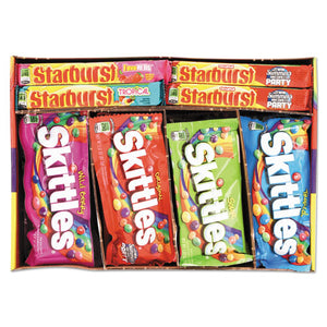 ESWRI884614 - Skittles & Starburst Fruity Candy Variety Box, Assorted, 30 Single Packs