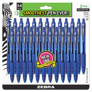 ESZEB12225 - Z-Grip Retractable Ballpoint Pen, Blue Ink, Medium, 24-pack