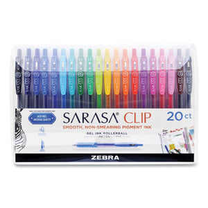 Sarasa Clip Gel Retractable, Fine 0.5 Mm, Assorted Ink-barrel, 20-set