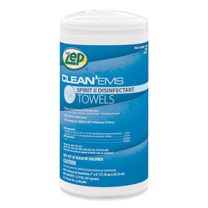 Clean'ems Spirit Ii Towels, 8 X 7, Citrus, 80-canister, 6 Canisters-carton