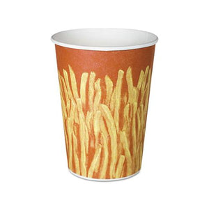 ESSCCGRS32 - Paper French Fry Cups, 32oz,yellow-brown Fry Design, 500-crtn