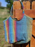 Beach Bag Featuring Apple Blossom Wovens PRE-ORDER (click to see options- picture is example)