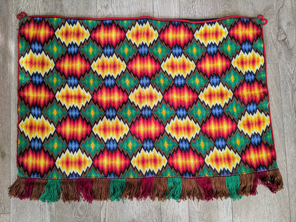 Vintage Handwoven Textile Wall Hanging No. 5