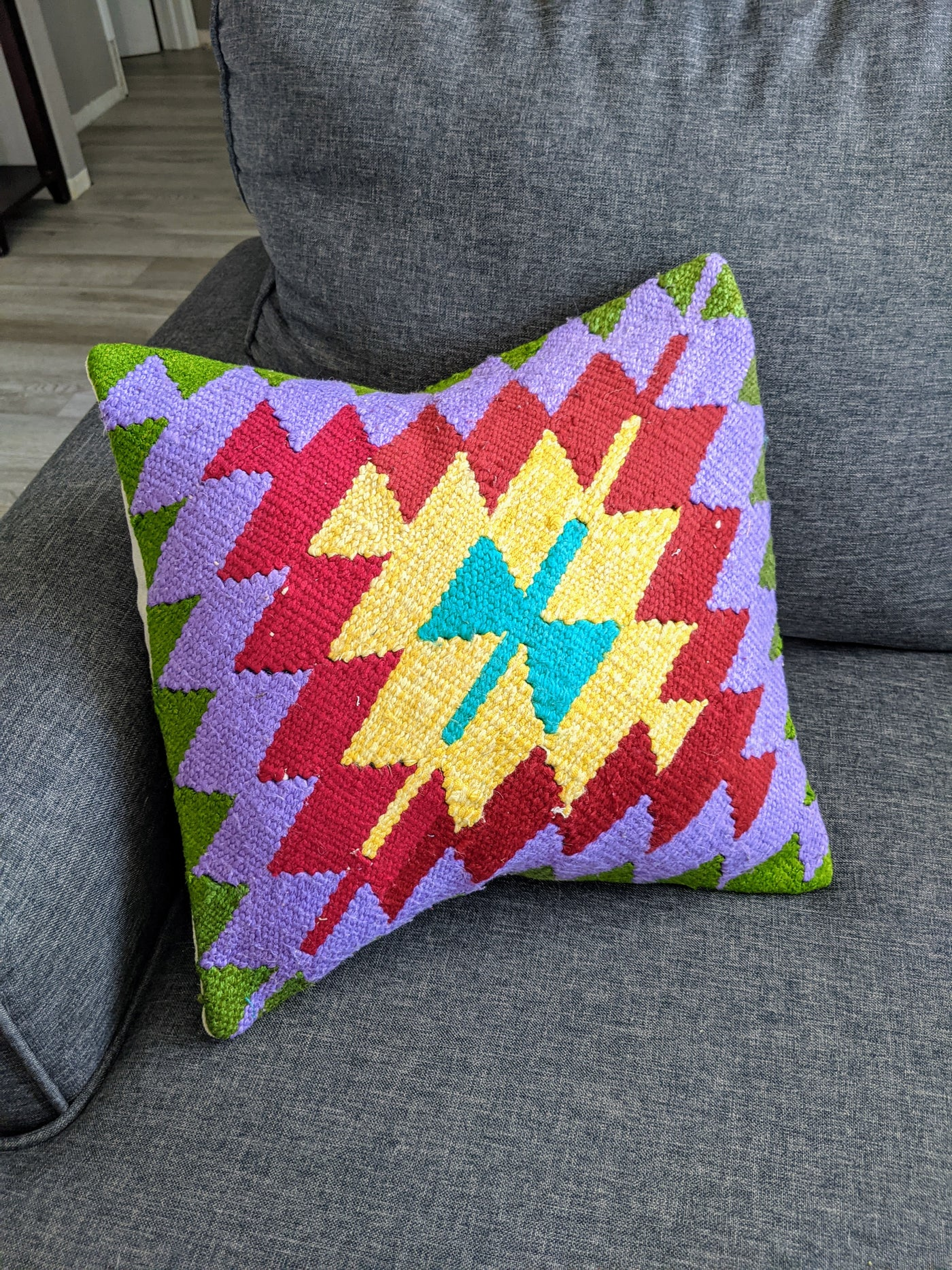 Vintage Turkish Kilim Throw Pillow Cover # 3