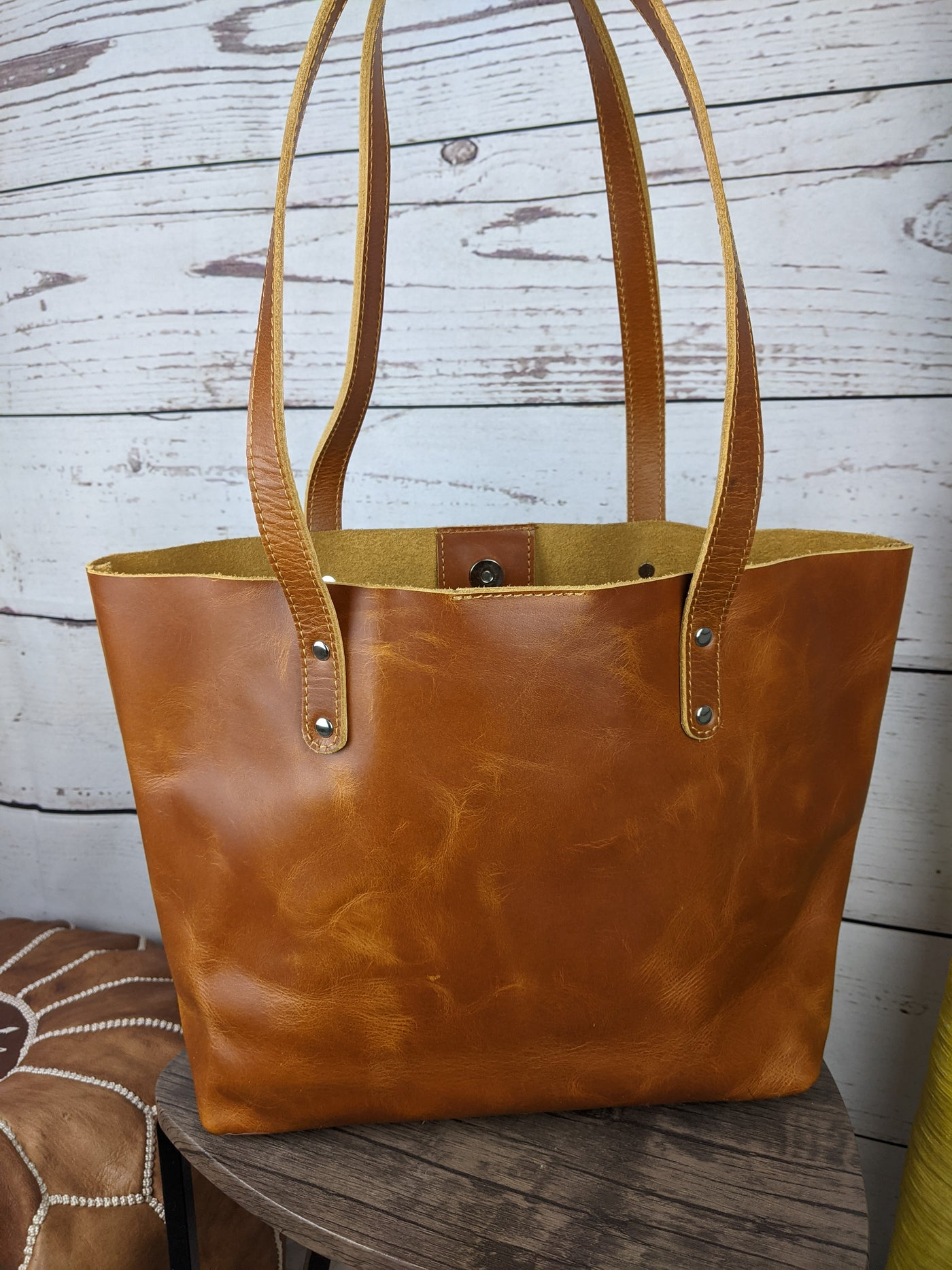 Tan Leather Abigail Tote