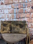 Distressed Leather Mia Clutch