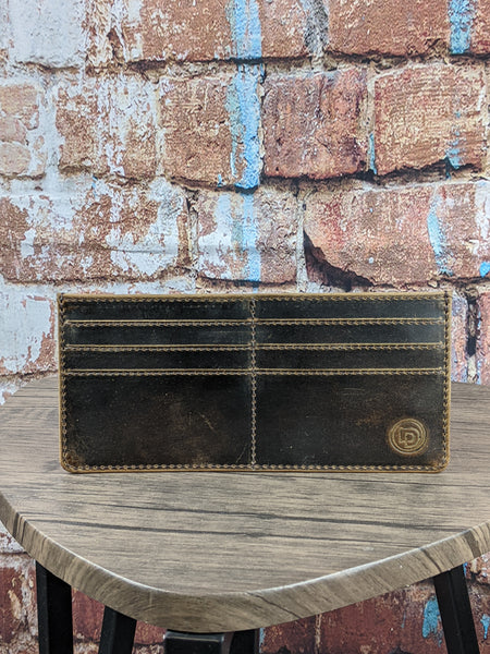 Distressed Leather Slim Wallet