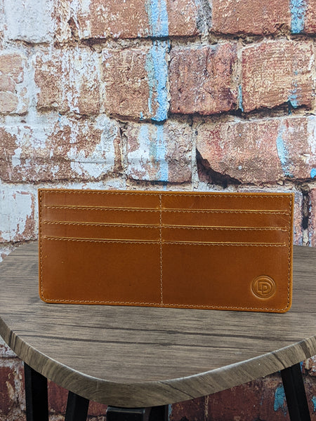 Tan Leather Slim Wallet