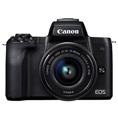 Canon EOS M50 Mirrorless Digital Camera (Black) W/ EF-M 15-45mm IS STM Lens