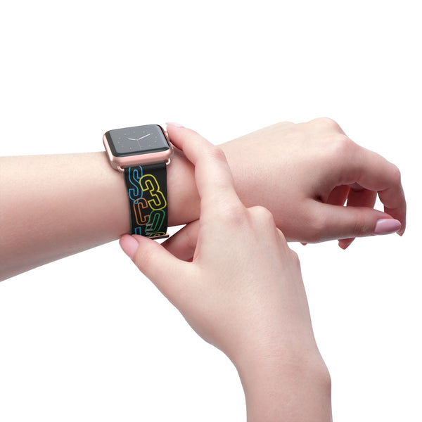 Scattered letters iWatch Band