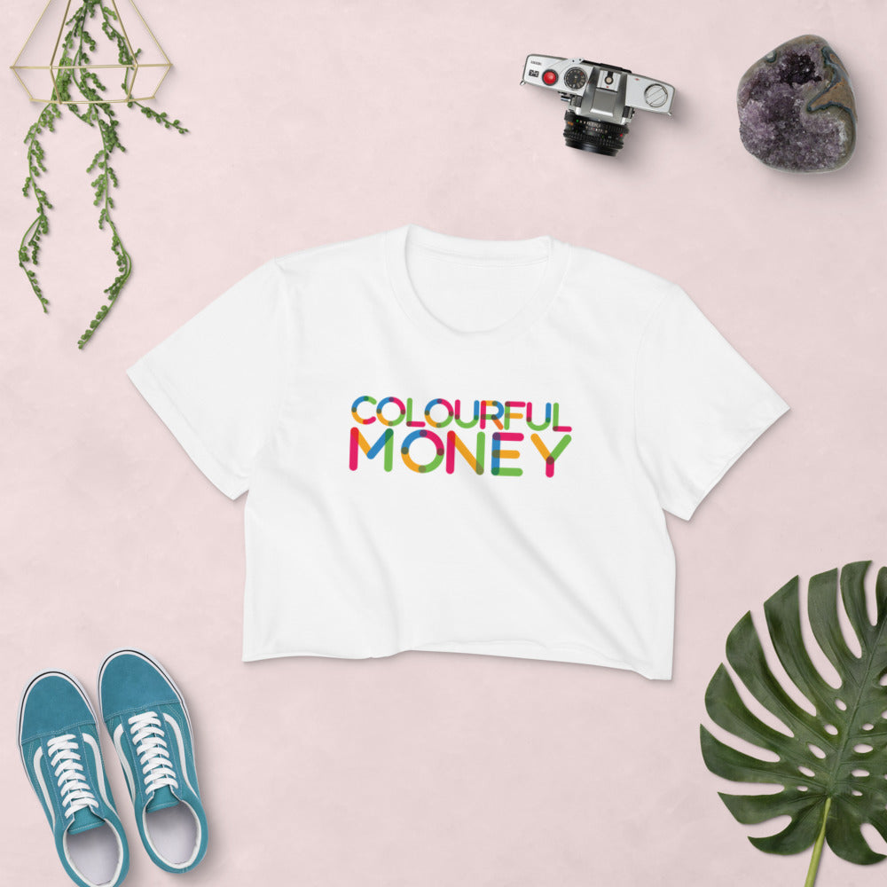 """Colourful Font"" Colourful Money Women's Crop Top"