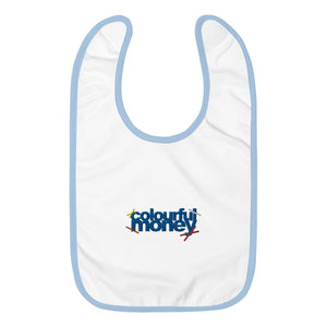 Embroidered Colourful Money Baby Bib
