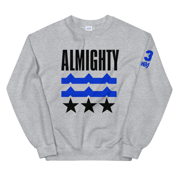 ALMIGHTY Crewneck Sweater Blue