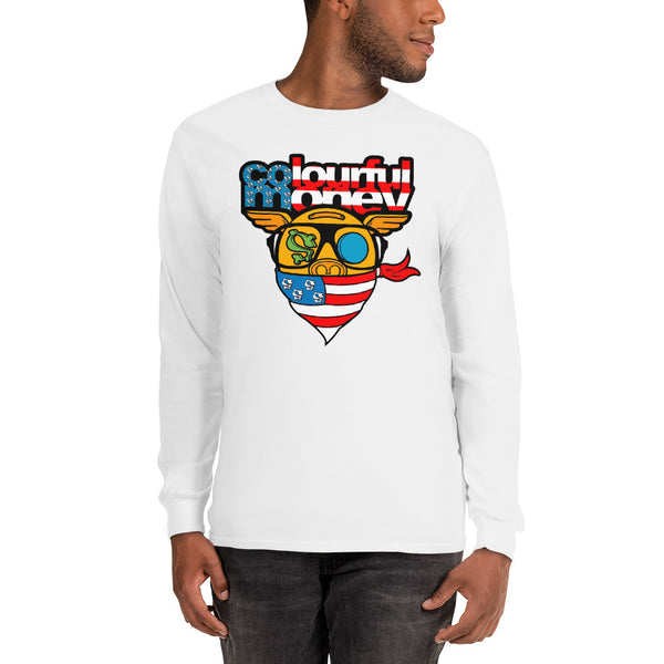 US Flag inspired Long Sleeve T-Shirt