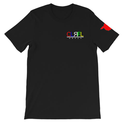 CLRFL MONEY sports tee shirt by Colourful Money