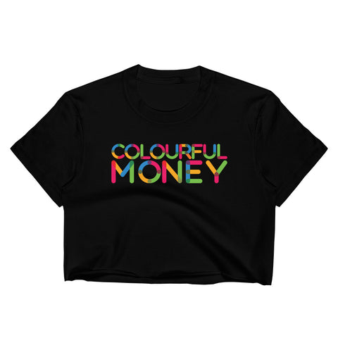Women's Colourful Money crop t-shirt